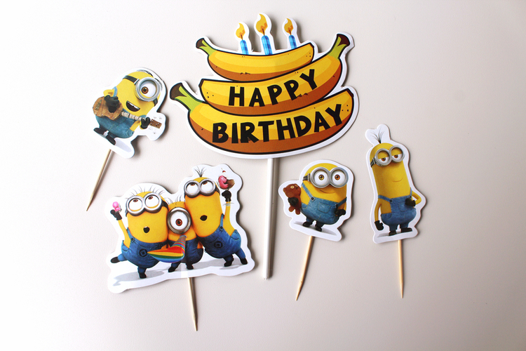 Groovy Cake Topper Minion Oh Stef Cakes Personalised Birthday Cards Cominlily Jamesorg